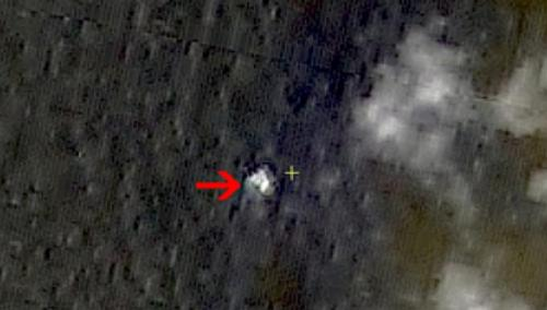 Image of suspected debris from the missing Malaysia Airlines flight MH370 in South China Sea