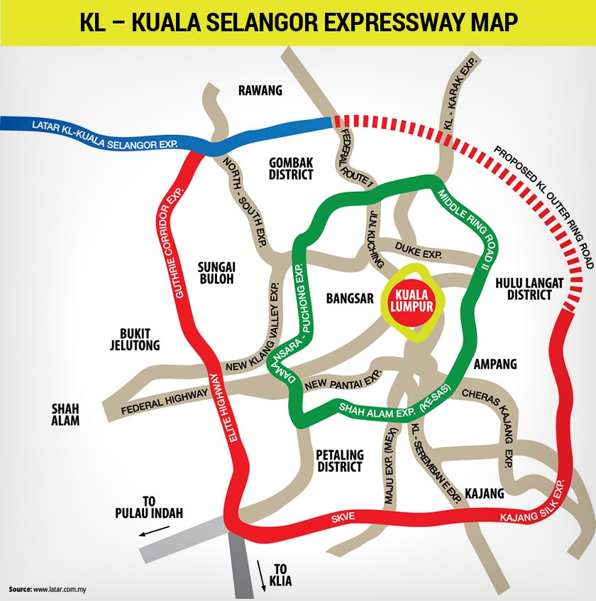 The proposed KL Outer Ring Road