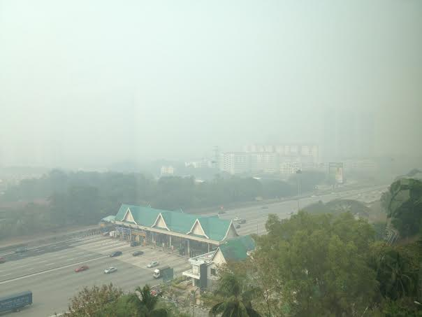 The view of PJ overlooking the Damansara toll, on 13 March