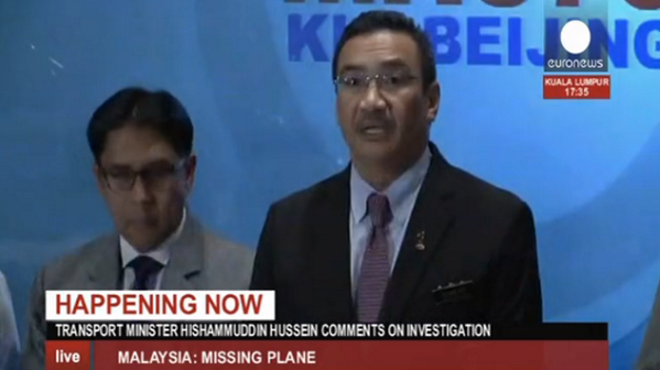 Malaysian Transport Minister new press conference on missing plane