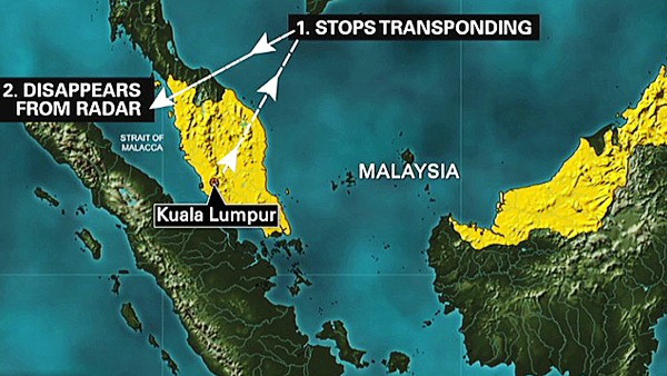 MH370 disappeared on March 8 with 239 people, including 12 crew members, onboard