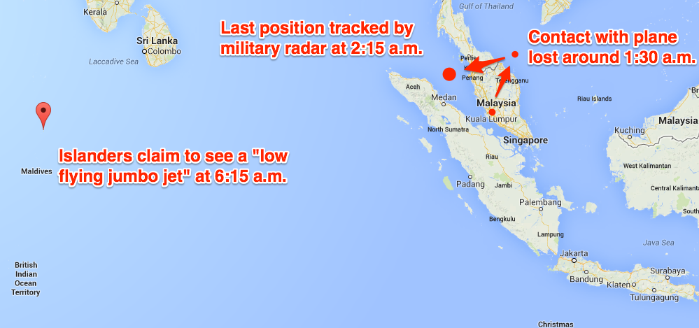 Remote Islanders In The Indian Ocean Claim They Saw The Missing Malaysia Plane