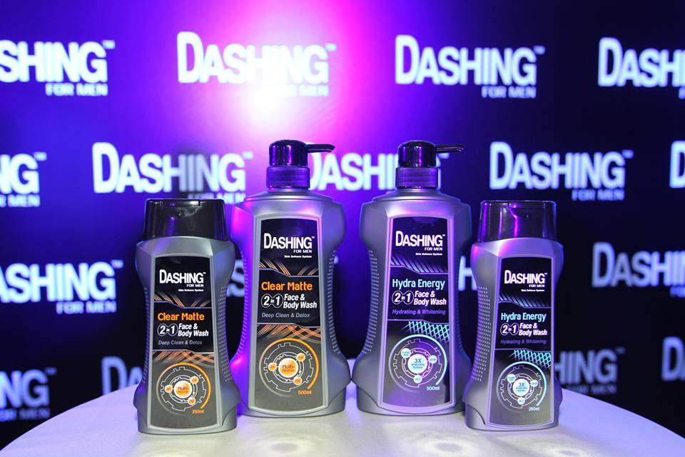 Dashing 2-in-1 face and body wash