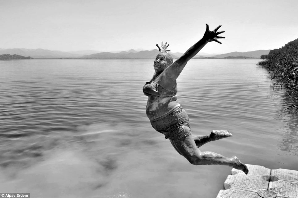 While many of the photographs are intensely colourful, this black and white image taken in Turkey by Alpay Erdem titled 'Smile' was chosen for being both vibrant and still