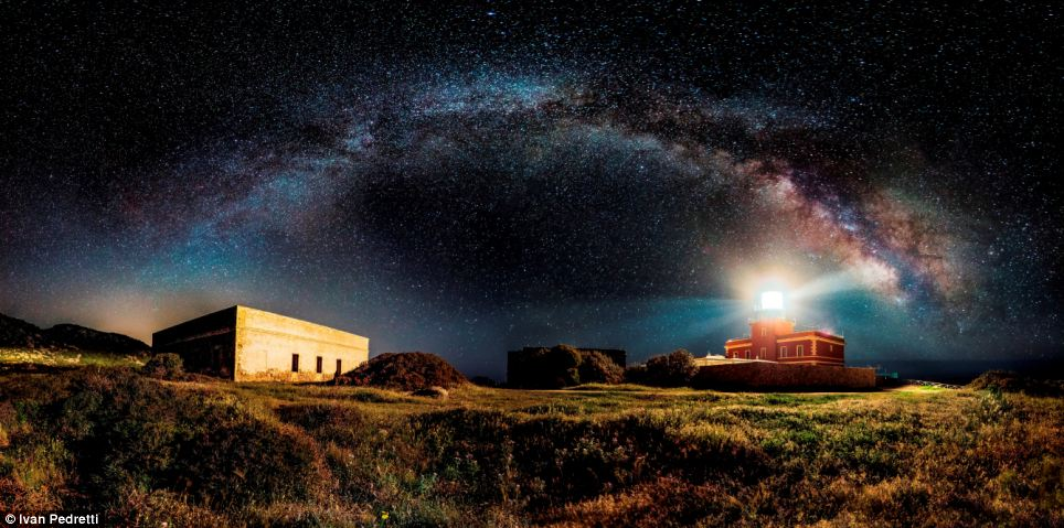 This spellbinding shot of the Milky Way shining over Italy, taken by Ivan Pedretti, took the title in the 'open' category