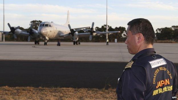 Japanese P-3C Orion aircraft arrived at RAAF Base Pearce on Sunday to assist in the search