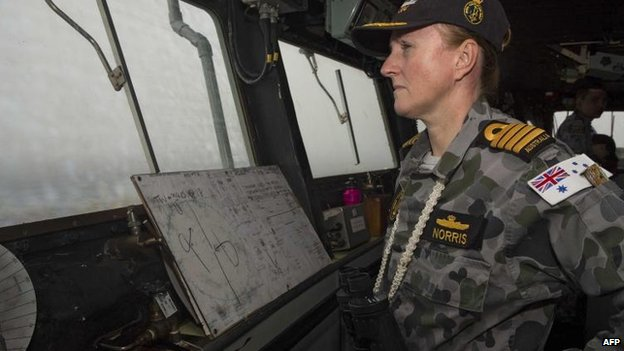 HMAS Success, under Capt Allison Norris, is the only ship so far in the search zone