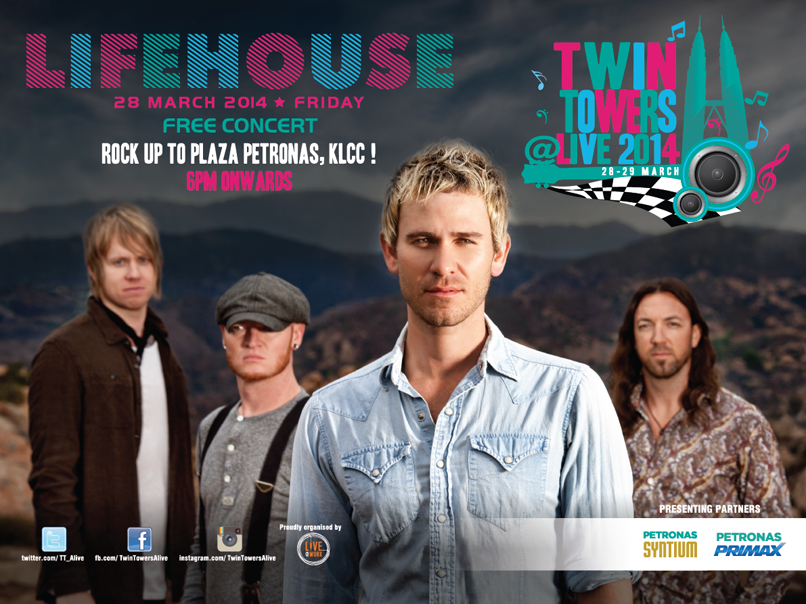 Lifehouse for Twin Towers Alive 2014.