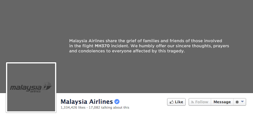 Malaysia airlines Facebook timeline