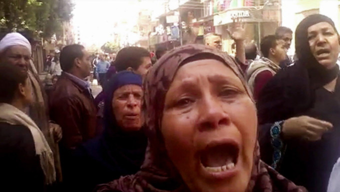 Relatives reacting after an Egyptian court on Monday sentenced to death 529 supporters of ousted Islamist President Mohammed Morsi.