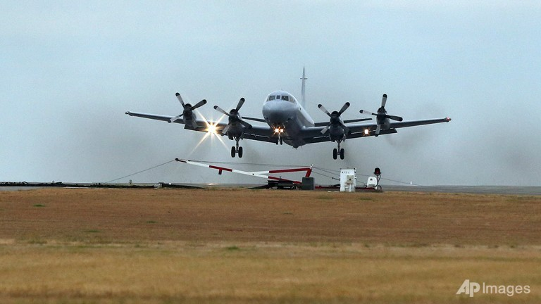 A Royal Australia Air Force AP-3C Orion takes off from RAAF Base Pearce in Perth, Australia to resume the search for missing Malaysia Airlines Flight MH370 in the southern Indian Ocean on March 26, 2014.