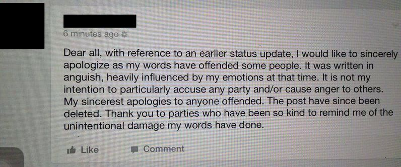 Apology issued by AirAsia X pilot.