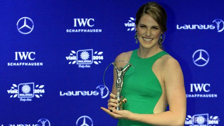 Missy Franklin stole the limelight by winning the World Sportsman and Sportswoman award.