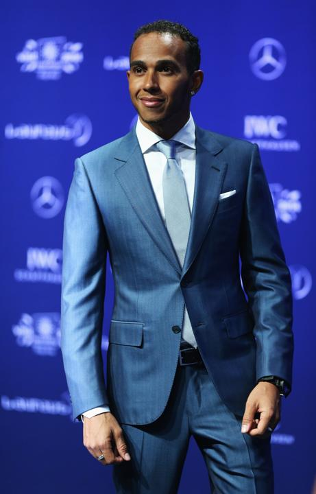 Formula One driver Lewis Hamilton attends the 2014 Laureus World Sports Awards at the Istana Budaya Theatre on March 26, 2014 in Kuala Lumpur, Malaysia.
