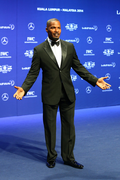 Actor Jamie Foxx attends the 2014 Laureus World Sports Awards at the Istana Budaya Theatre on March 26, 2014 in Kuala Lumpur, Malaysia.