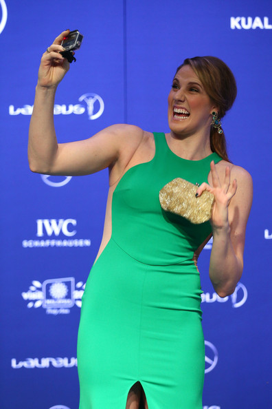 Missy Franklin attends the 2014 Laureus World Sports Awards at the Istana Budaya Theatre on March 26, 2014 in Kuala Lumpur, Malaysia.
