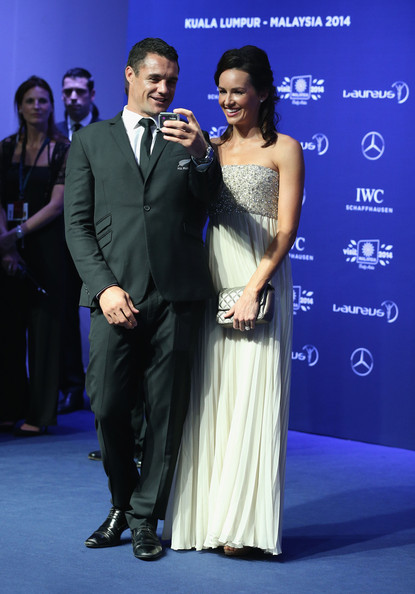 Dan Carter, from the New Zealand All Blacks a Laureus World Team of the Year nominees and guest attend the 2014 Laureus World Sports Awards at the Istana Budaya Theatre on March 26, 2014 in Kuala Lumpur, Malaysia.