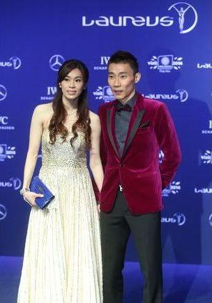 National shuttler Datuk Lee Chong Wei (R) and his wife Datin Wong Mew Choo were among the most outstanding on the red carpet.