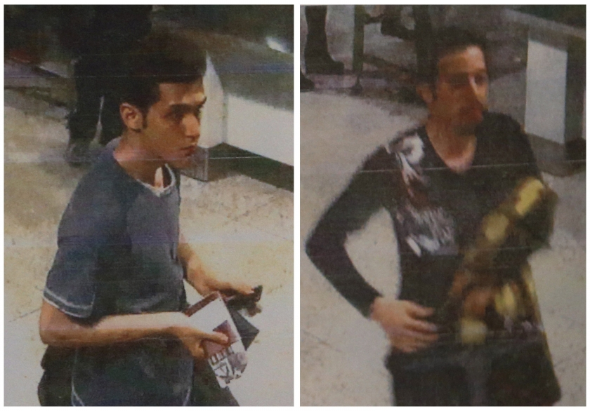 A combination photo shows two men whom police said were travelling on stolen passports onboard the missing Malaysia Airlines MH370 plane, taken before their departure at KLIA in this March 11, 2014 handout courtesy of the Malaysian Police.