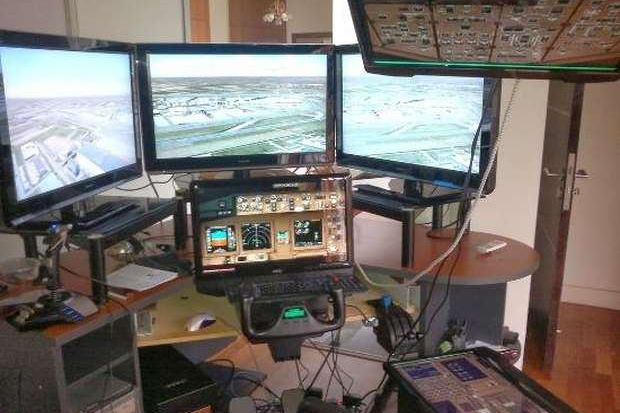 Flight simulator at Capt.Zaharie's residence.