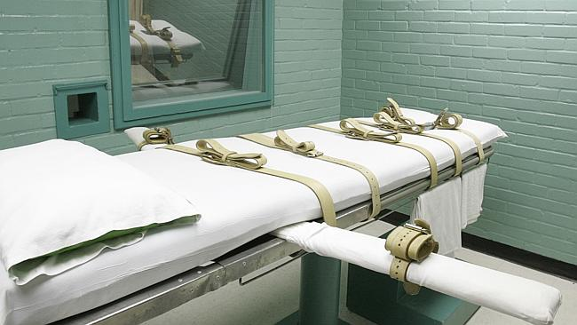 This is how inmates in Texas are put to death in a lethal injection chamber.