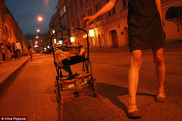 Irina Popova found Lilya on the streets of St. Petersburg with Asfina in her stroller