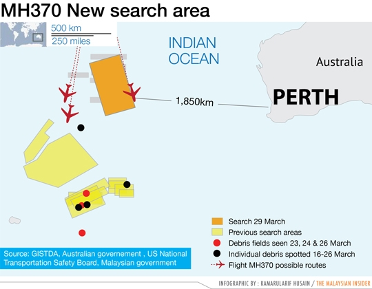 MH370 new search area