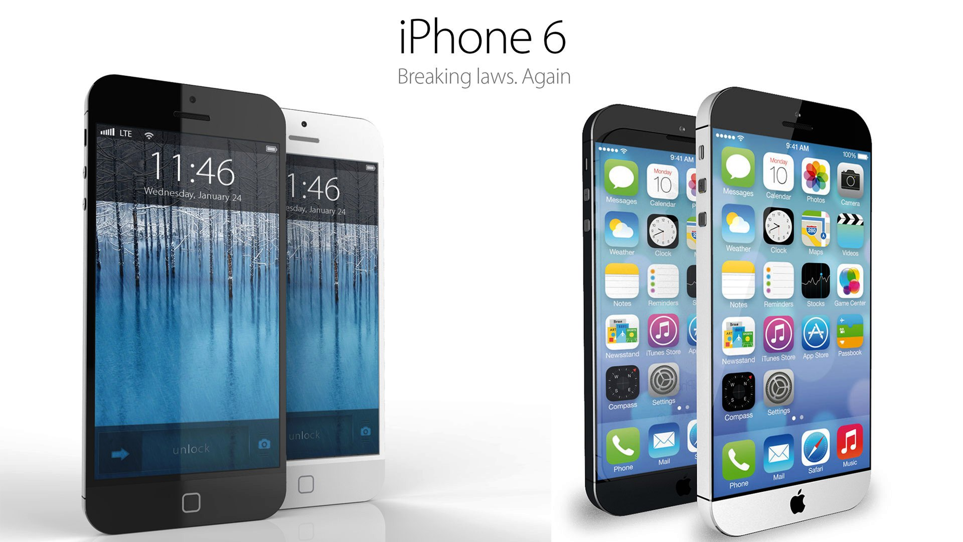 An artist's impression of iPhone 6