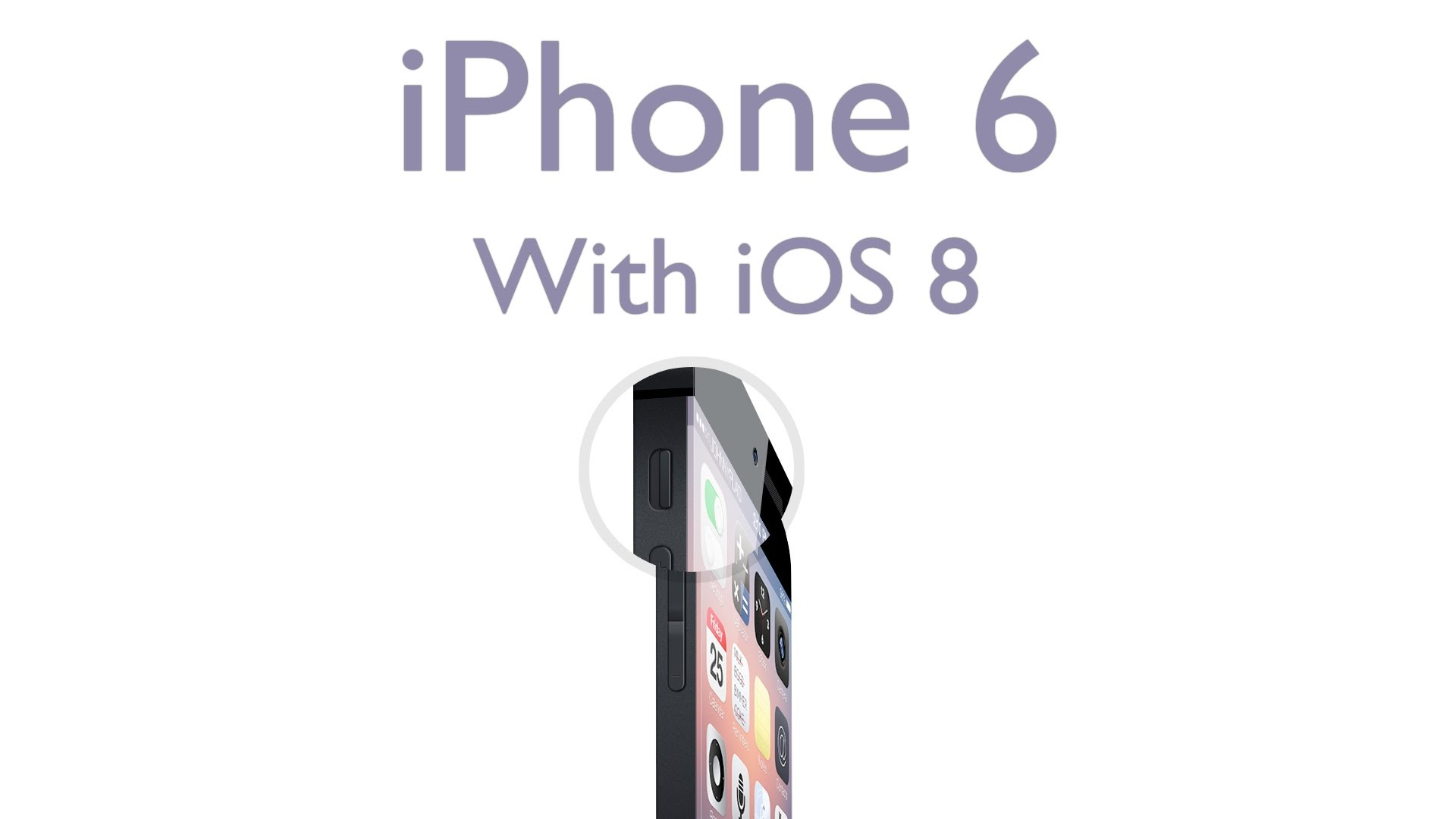 Concept design for iPhone 6 and iOS 8