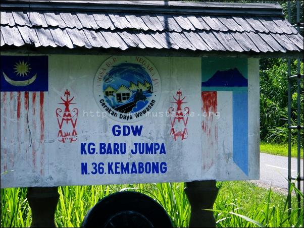 Papan tanda Kampung Baru Jumpa.