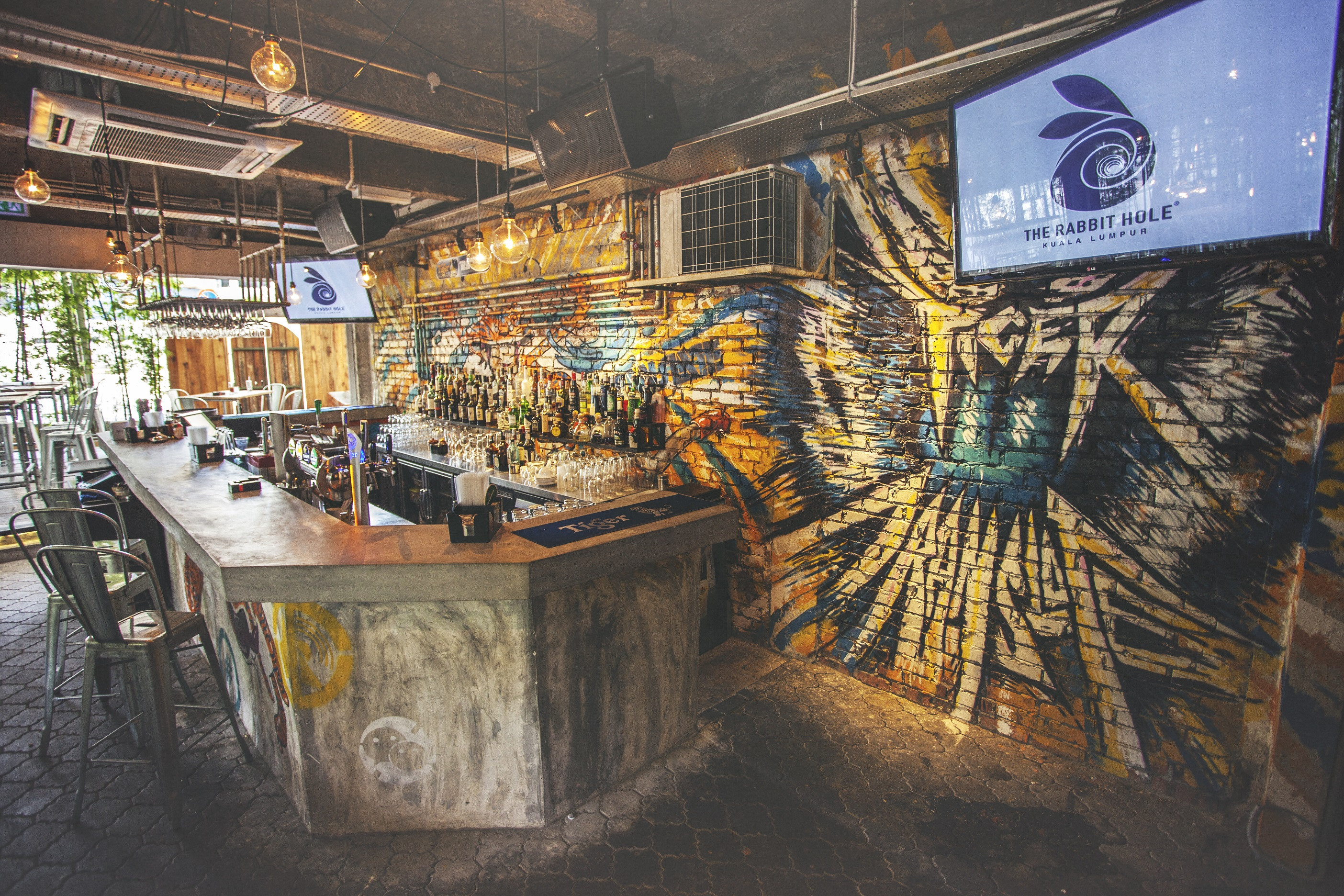 The Bar At The Rabbit Hole Features Graffiti Artwork From Global Malaysian Artists Image Via Rabbit Hole