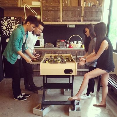 And we have foosball tournaments.