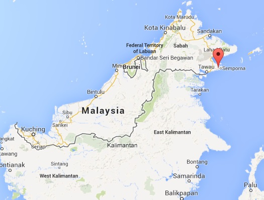 Semporna is located in Sabah