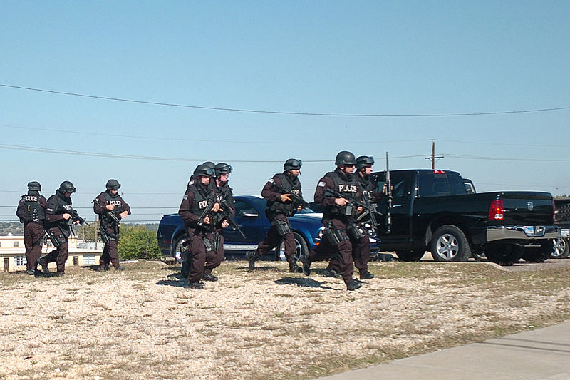 Fort Hood Police SWAT responds to the shooting