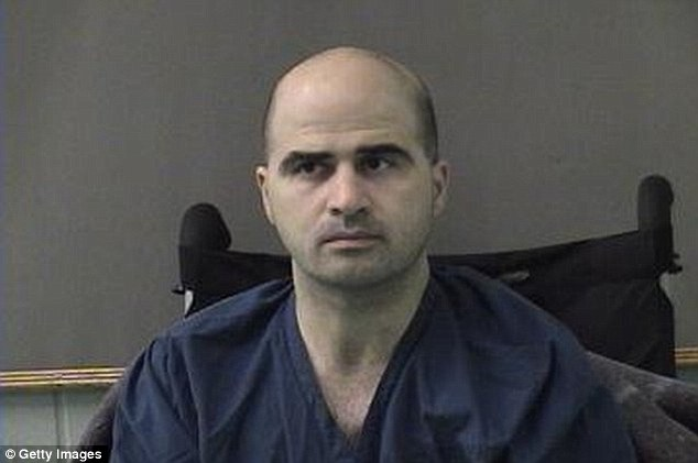 U.S. Army Maj. Nidal Hasan, pictured, a psychiatrist, killed 13 people and injured dozens more inside the Texas Army base. He is on military death row