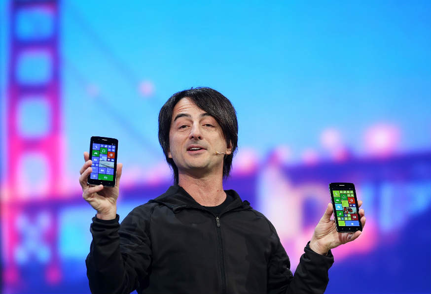 Microsoft's Joe Belfiore shows off one of Cortana's distinctive features