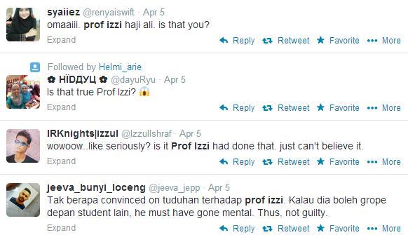 Ramai yang sukar mempercayai dakwaan terhadap Profesor Izzi.