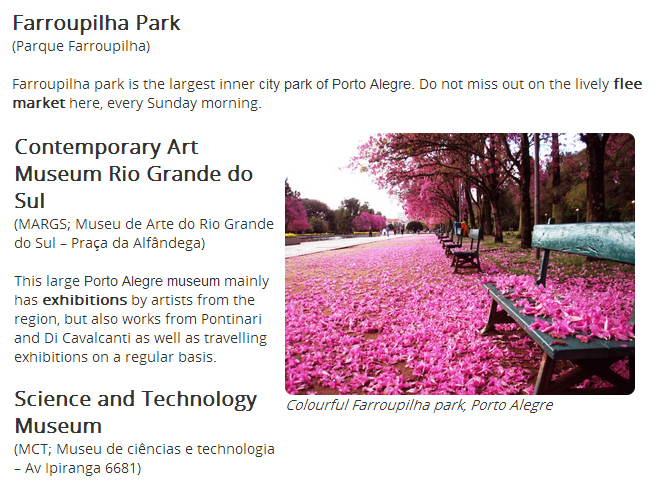 The photo was taken in Farroupilha Park, Porto Alegre, Brazil.