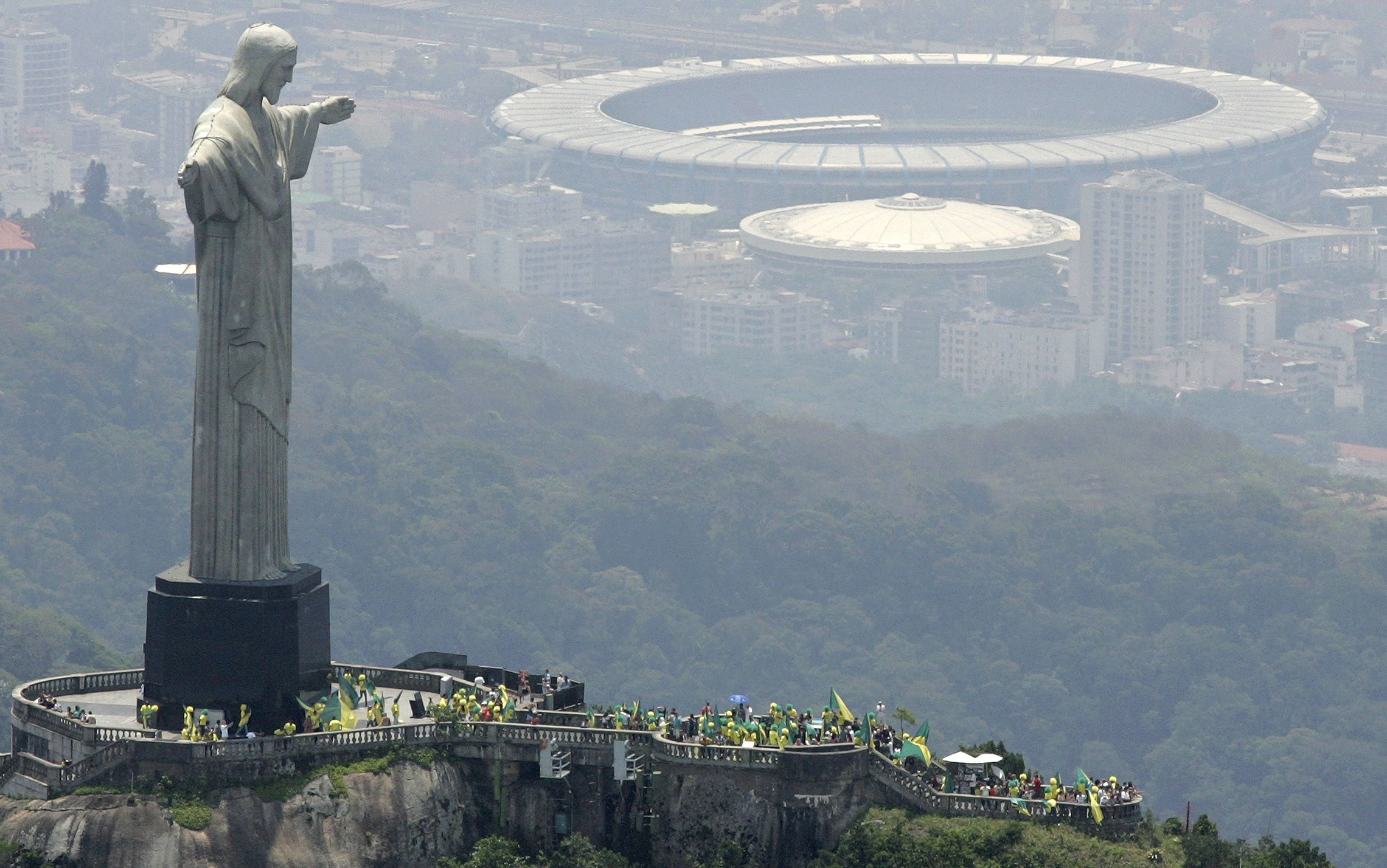 Christ the Redeemer is a statue of Jesus Christ in Rio de Janeiro, Brazil and was considered the largest Art Deco statue in the world.