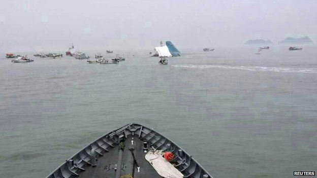 More than 30 ships are involved in the rescue