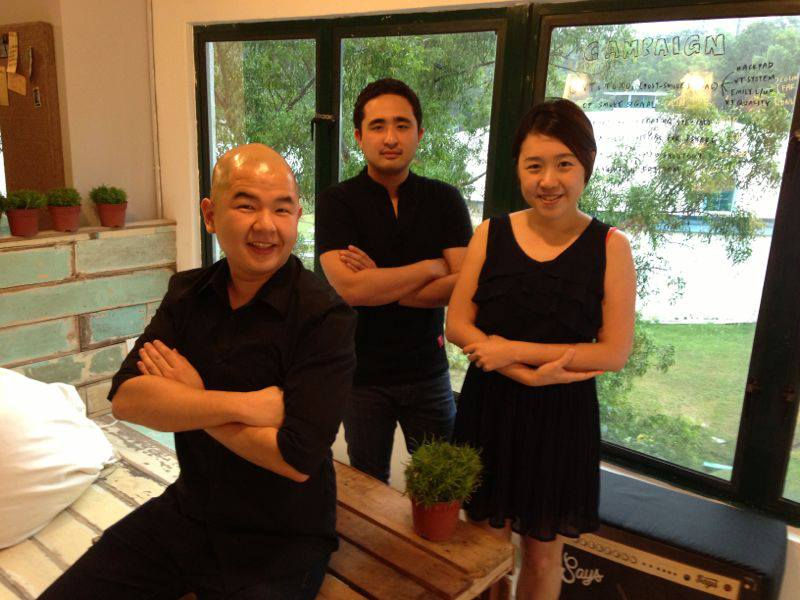 (From left) Chris Wee, Adrian Gaffor and Jess Lew from the Strategic Planning Team.