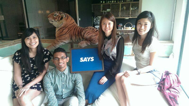 (From left) Judith Yeoh, Farouq Johari, Melody Oei and Mei Mei Chu from the Content Team.