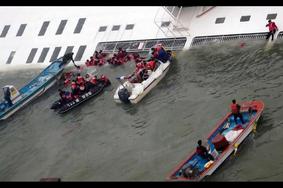 The Sewol ferry was carrying 475 passengers and crew when it capsized on Wednesday, 16 April 2014.