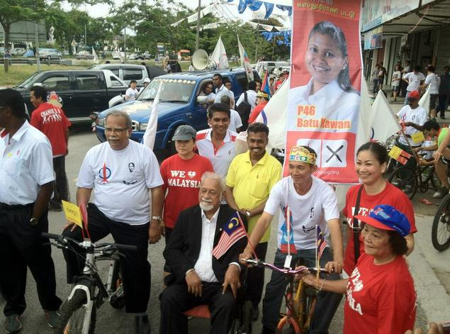 Michael with Karpal during GE13