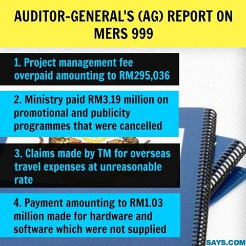 AG 2012 report on MERS 999.