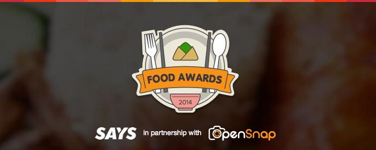 The SAYS Food Awards 2014.