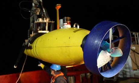 The Bluefin-21 submersible, which is scanning the bottom of the Indian Ocean for wreckage of Malaysia Airlines flight MH370.