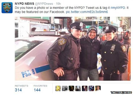 This was the original tweet posted by the NYPD asking for users' photos