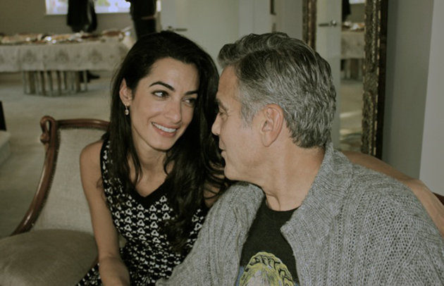 Amal Alamuddin and George Clooney in Africa.