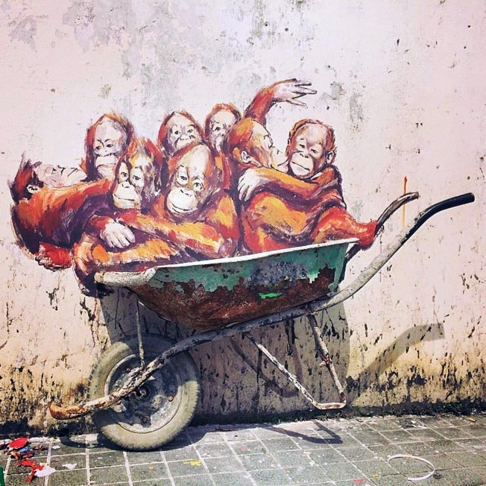Photos Ernest Zacharevic Hits Kuching With A Quot Great Ape